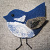 handmade jewellery needle felted bird brooch
