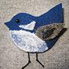 handmade jewellery needle felted bird brooch