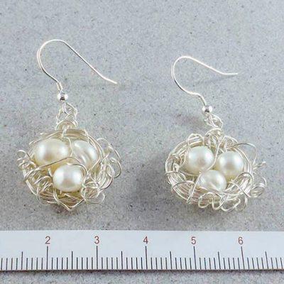 handmade jewellery made in Australia bird's nest earrings