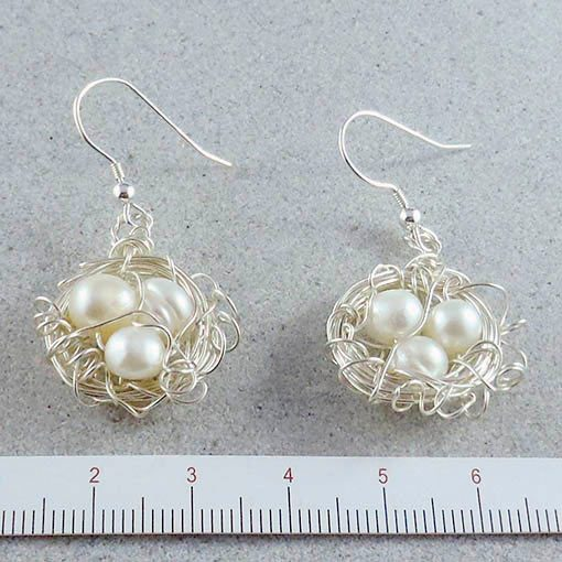 handmade jewellery made in Australia bird's nest earrings