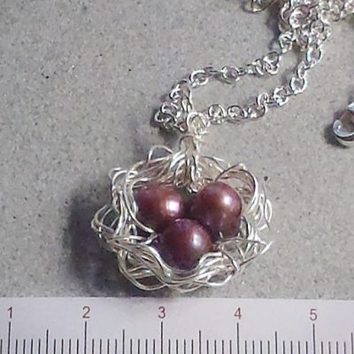 handmade jewellery made in Australia bird's nest pendant