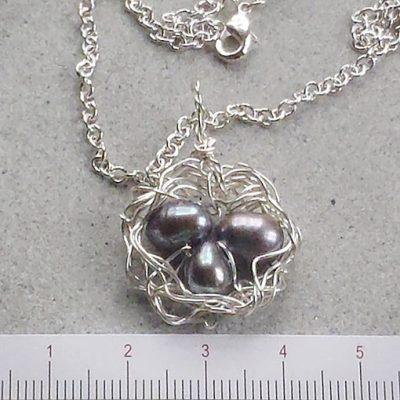 handmade jewellery made in Australia bird's nest pendant