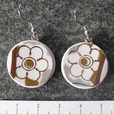 handmade jewellery broken china plate earrings