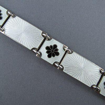 1960s Volmer Bahner Sterling Silver Enamel Bracelet