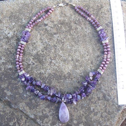 amethyst necklace handmade jewellery australia