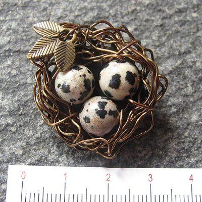 handmade gemstone brooch